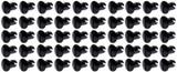Oval Head Dzus Buttons .500 Long 50 Pack Black TIP8102-50 Sprint Car Ti22 Performance