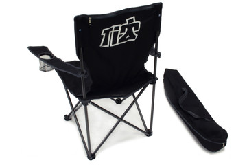 TIP9240 Black Canvas Folding Chair With Bag Sprint Car Ti22 Performance