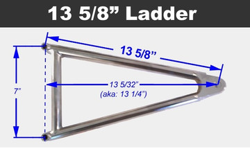 Jacobs Ladder 13-5/8 Titanium With Hardware TIP2434 SprintCar Ti22 Performance