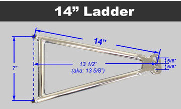 Jacobs Ladder 14 ADJ Chromoly w Ti Hardware TIP2448 SprintCar Ti22 Performance