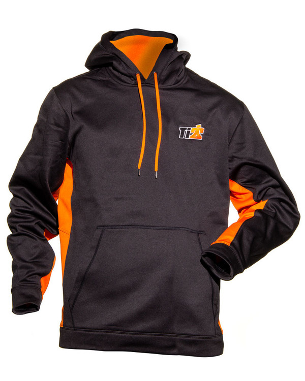 Sport-Tek Black Orange Ti22 Hoodie Large TIP9210L Sprint Car Ti22 Performance