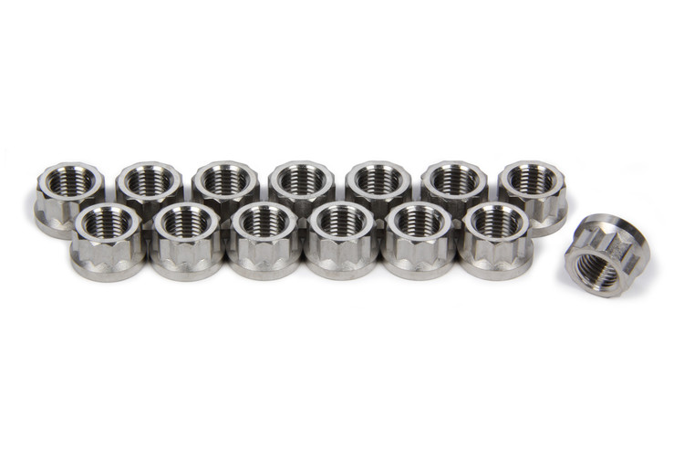 TIP1124 3/8-24 Flanged Header Nuts SprintCar Ti22 Performance