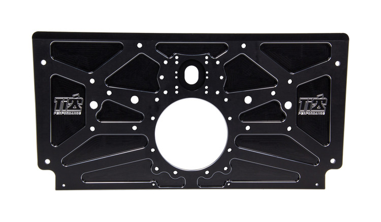 Sprint Rear Motor Plate Black TIP5004 Sprint Car Ti22 Performance