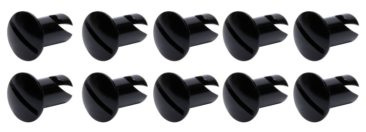 Oval Head Dzus Buttons .550 Long 10 Pack Black TIP8106 SprintCar Ti22 Performance