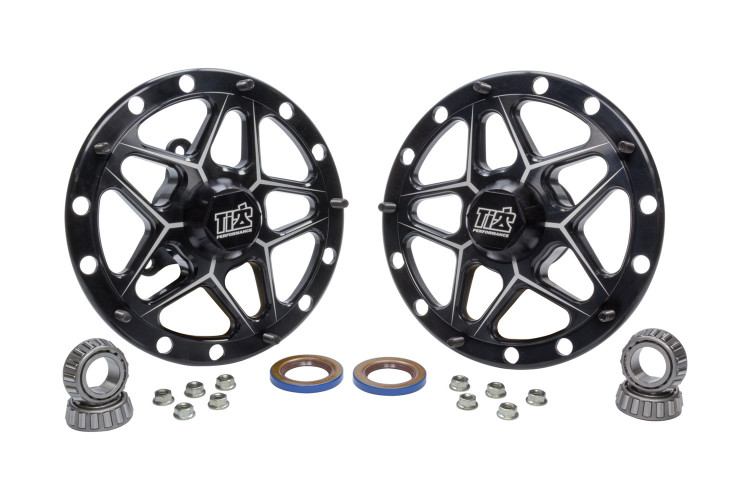 Direct Mount Front Hubs Forged Black TIP2800 SprintCar Ti22 Performance