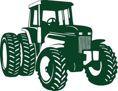 Large Farm Tractor Agriculture Car Truck Window Laptop Vinyl Decal Sticker Green
