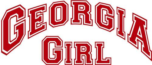 Georgia Girl Sports Football Car Truck Window Wall Laptop Vinyl Decal Sticker Red