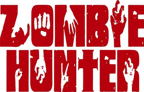 Zombie Hunter Slayer Monster Walking Dead Car Truck Window Vinyl Decal Sticker Red