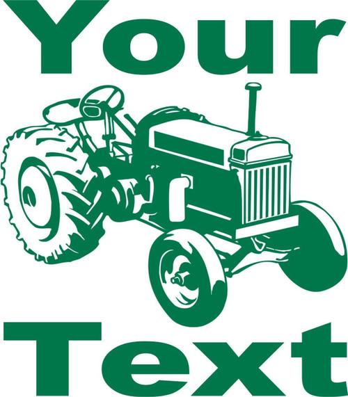 Custom Name Farm Tractor Vehicle Car Truck Window Laptop Vinyl Decal Sticker