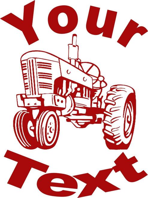 Personalized Custom Farm Tractor Car Truck Window Laptop Vinyl Decal Sticker