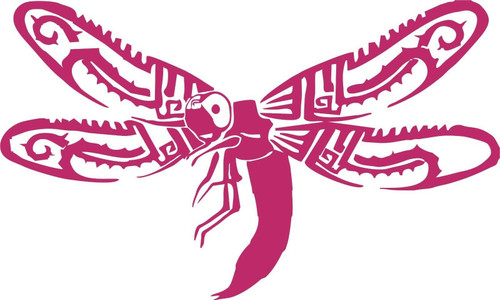 Dragonfly Butterfly Bug Wings Tribal Car Truck Window Laptop Vinyl Decal Sticker Black And White