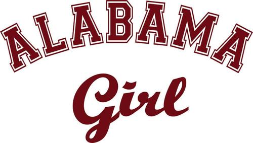 Alabama Girl Sports Football Car Truck Window Wall Laptop Vinyl Decal Sticker