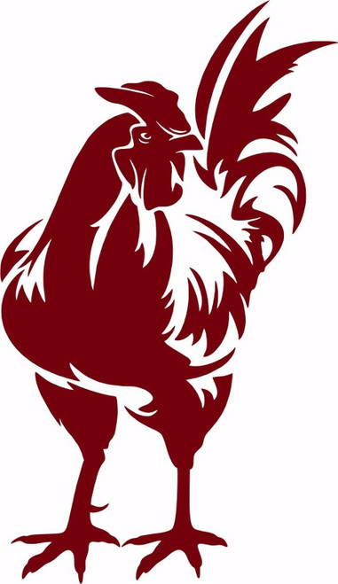 Rooster Chicken Farm Bird Car Truck Window Vinyl Decal Sticker Red