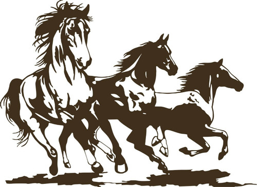Horse Rodeo Western Horses Stallion Car Truck Window Laptop Vinyl Decal Sticker Gray