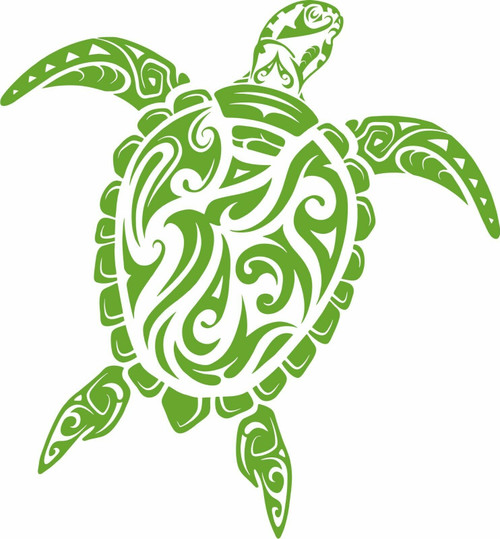 Sea Turtle Beach Ocean Tribal Pet Boat Car Window Vinyl Decal Sticker  Green