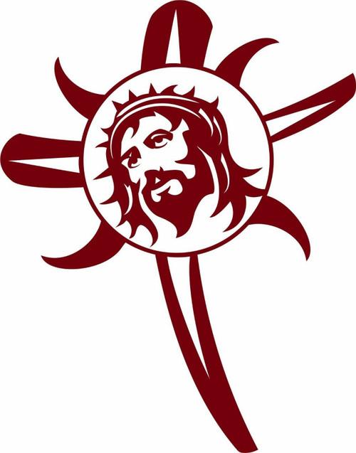 Jesus Christ Christian Crown Lord GOD Cross Truck Car Window Vinyl Decal Sticker