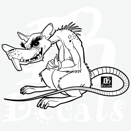 Evil Rat Mean Bad Monster Mouse Animal Car Truck Window PC Vinyl Decal Sticker