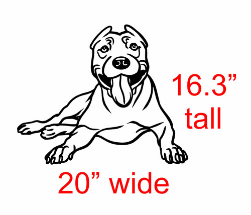 Pit Dog Vinyl Decal Sticker