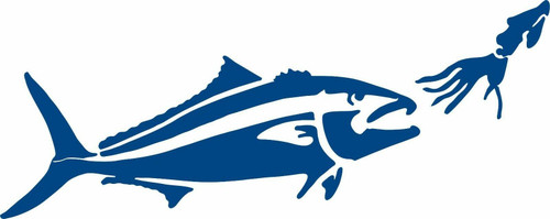 Fish Lure Fishing Jig Trout Monster Car Boat Truck Window Vinyl Decal Sticker Blue