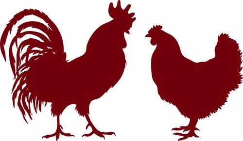 Chicken Rooster Hen Boy Girl Farm Car Truck Window Laptop Vinyl Decal Sticker red