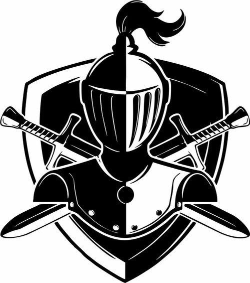 Skull Knight Warrior Medieval Shield Sword Car Truck Window Vinyl Decal Sticker