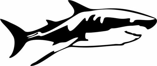 Shark Fish Dolphin Ocean Sea Diver Fishing Car Truck Window Vinyl Decal Sticker Black