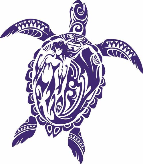 Sea Turtle Mermaid Ocean Tribal Fishing Boat Car Window Vinyl Decal Sticker