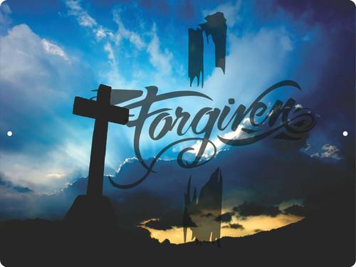 Christian Lord GOD Cross GOD Sky Forgiven Savior Jesus Christ Wall Sign Plaque