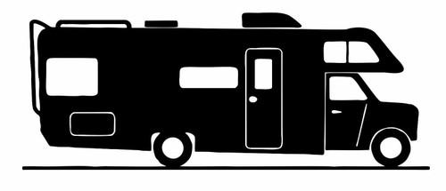 Camping RV Camper Home Park Class C Travel Car Truck Window Vinyl Decal Sticker Black
