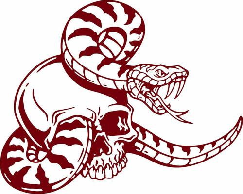 Snake Skull Serpent Eye Skeleton Car Truck Window Laptop Vinyl Decal Sticker Red