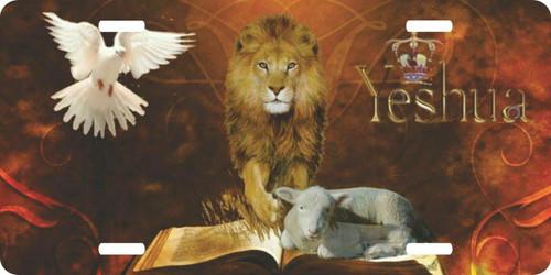 Lion of Judah Yeshua Lamb Jesus Christ Christian License Plate Car Truck Tag
