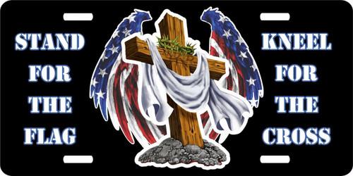 Christian Cross American Flag Christ Freedom License Plate Car Truck Tag
