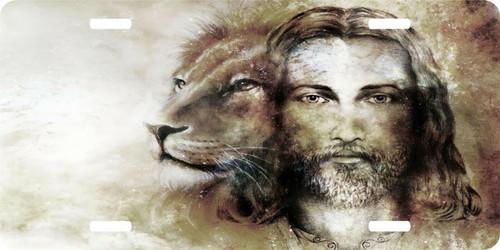 Lion of Judah Yeshua GOD Jesus Christ Christian License Plate Car Truck Tag