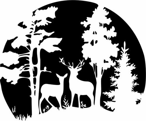Deer Hunting Tree Wall Art Home Decor Vinyl Decal