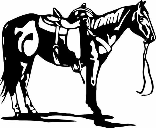 Horse Rodeo Western Horseback Riding Car Truck Window Laptop Vinyl Decal Sticker Black
