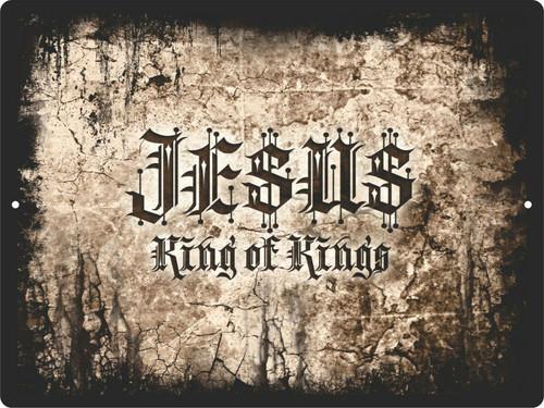 Christian Lord GOD Cross King of Kings Savior Jesus Christ Wall Sign Plaque