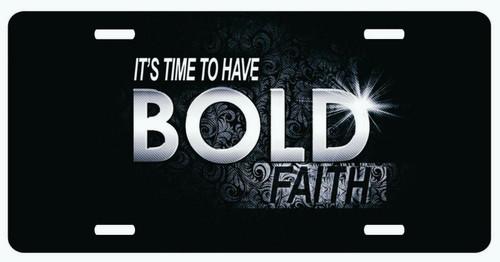 Bold Faith Christian Cross Jesus Christ Lord GOD License Plate Car Truck Tag