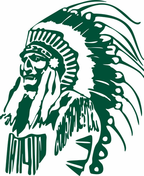 Native Indian Tribe Chief Face Headdress Car Truck Window Vinyl Decal Sticker Green