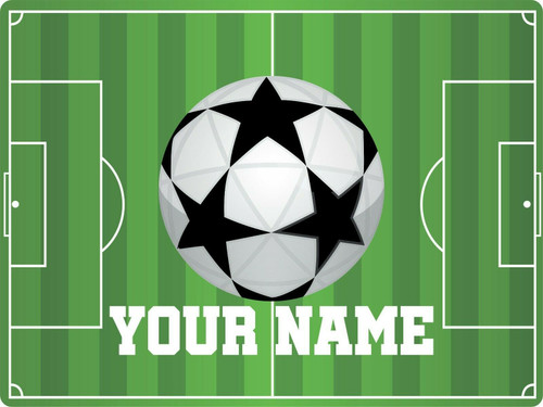 Soccer Team Sports Game Rugby Football Personalized Custom Name Wall Sign Plaque Green