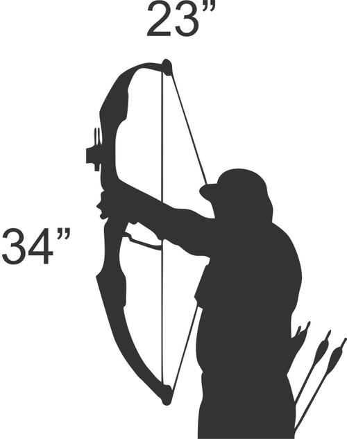Archery Bow Hunting Hunter Wall Art Home Decor Mural Decal Vinyl  Black