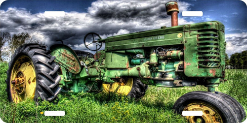 Tractor Field Farm Farming License Plate Car Truck Tag