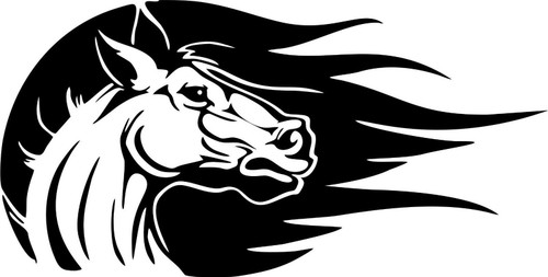 Horse Western Rodeo Cowgirl Cowboy Car Truck Window Laptop Vinyl Decal Sticker Black