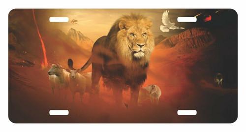 Lion Judah Yeshua Lamb Jesus Dove Christ Christian License Plate Car Truck Tag