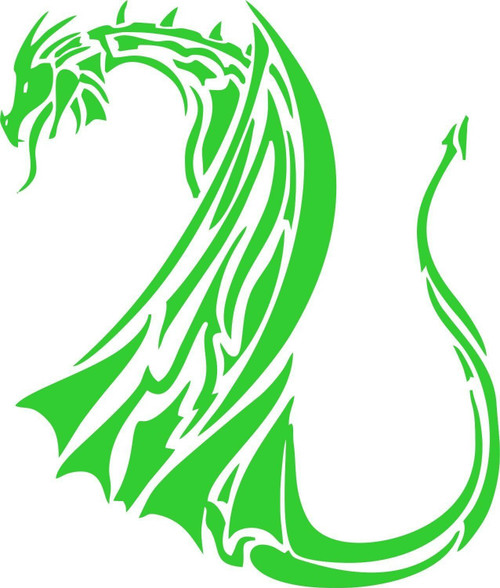 Dragon Mythical Creature Tribal Car Truck Window Laptop Vinyl Decal Sticker