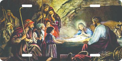 Nativity Christian Cross Jesus Christ Lord GOD License Plate Car Truck Tag