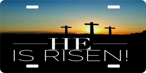 Jesus Christ Christian Cross GOD Savior Risen License Plate Car Truck Tag