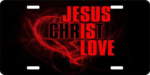 Christian Cross Jesus Christ Love Lord GOD Savior License Plate Car Truck Tag