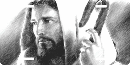 Jesus Christ Christian Cross GOD Savior Shepherd License Plate Car Truck Tag