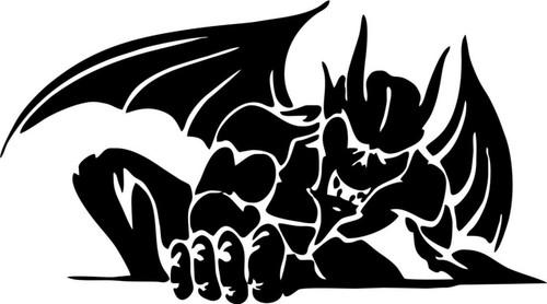 Gargoyle Creature Monster Beast Car Truck Window Vinyl Decal Sticker  Black