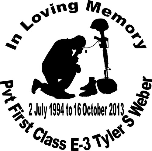 In Loving Memory Soldier Army Navy Military Car Truck Window Vinyl Decal Sticker Black